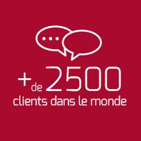 2500 clients dans le monde