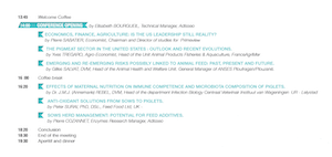 Agenda SWINE CONFERENCE ADISSEO 2015