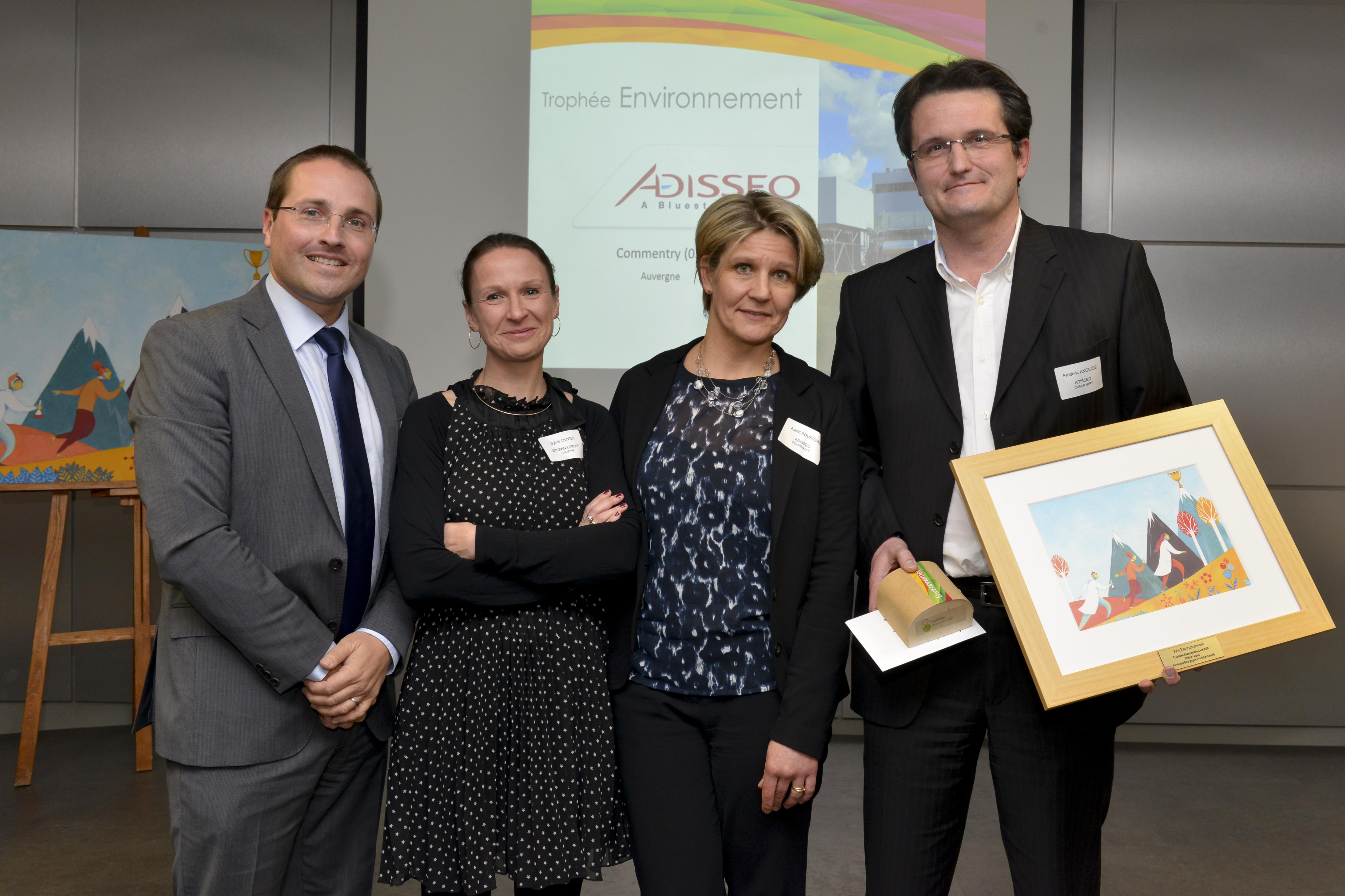 Trophée Responsible Care Environnement Biomasse Energie Commentry
