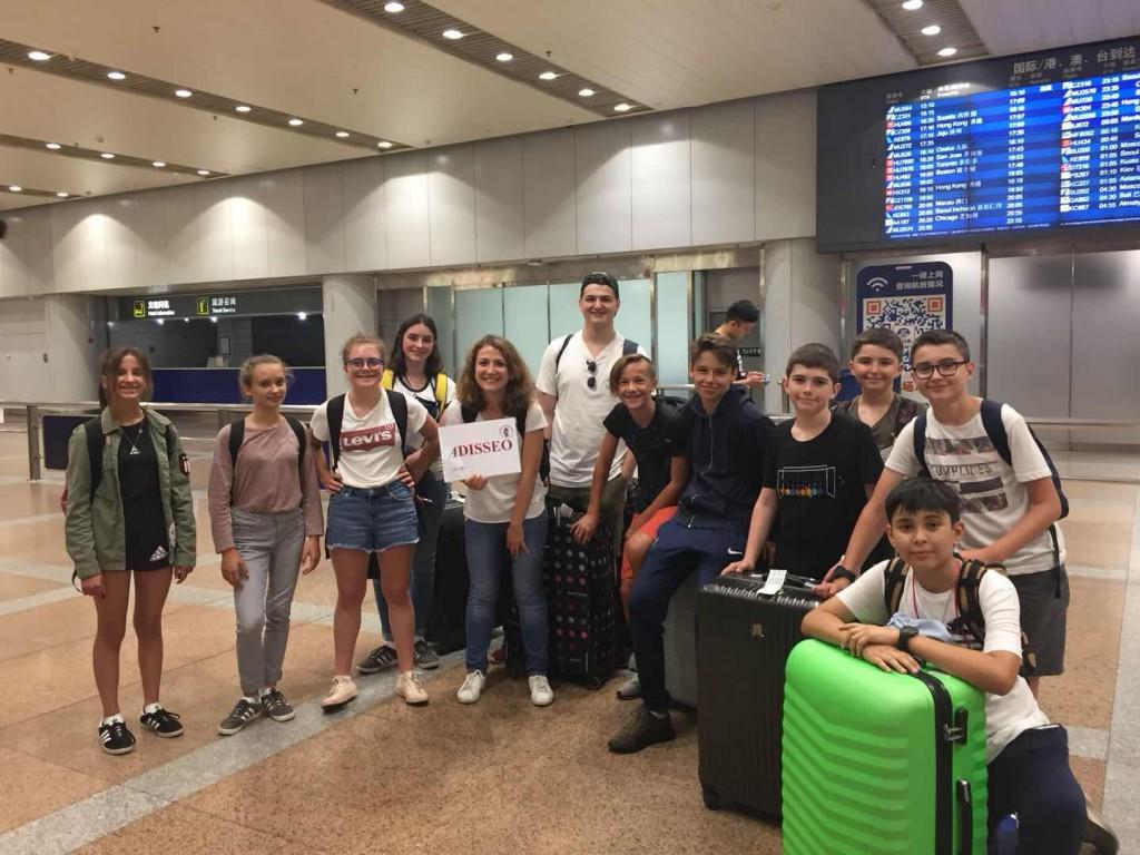 Le groupe arrive à pekin