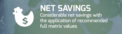 NET SAVINGS: Considerable net savings with the application of recommended full matrix values
