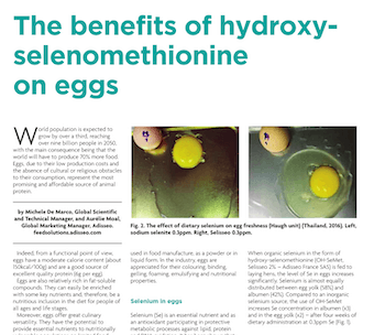 the benefits of hydroxy selenomethionine on eggs